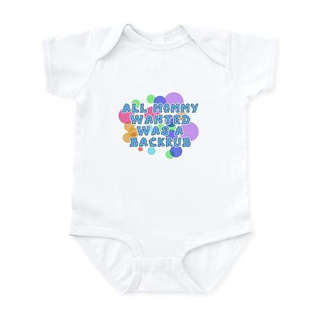 Baby Humor Mommy Backrub Infant Bodysuit