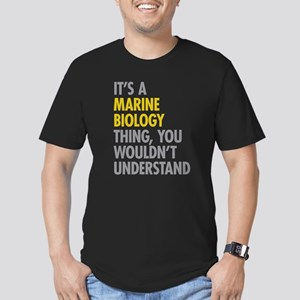 Marine Biology Thing Men's Fitted T-Shirt (dark)