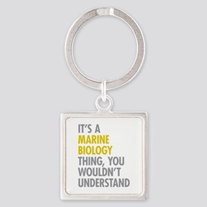 Marine Biology Thing Square Keychain