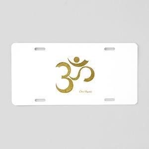 Om Shanti Aluminum License Plate
