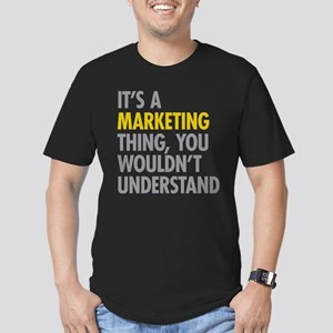 Marketing Thing Men's Fitted T-Shirt (dark)