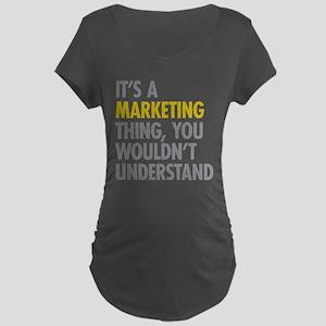 Marketing Thing Maternity Dark T-Shirt