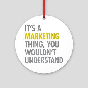 Marketing Thing Ornament (Round)