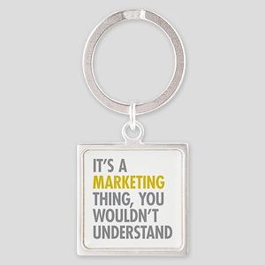 Marketing Thing Square Keychain