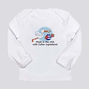 Stork Baby Cuba USA Long Sleeve T-Shirt