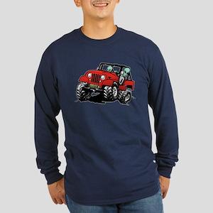Funny 4x4 Rock Crawler Aliens Long Sleeve T-Shirt