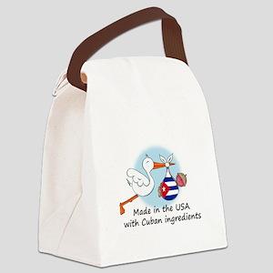 stork baby cuba 2 Canvas Lunch Bag