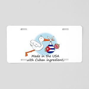 stork baby cuba 2 Aluminum License Plate