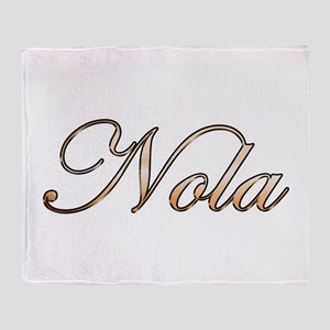 Gold Nola Throw Blanket
