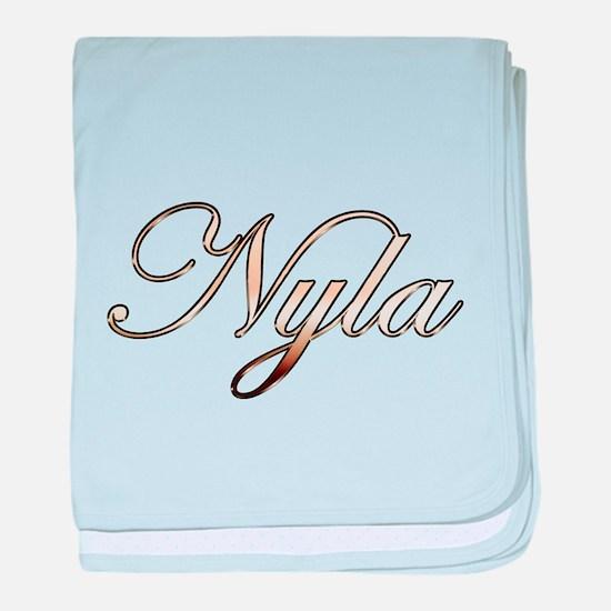 Gold Nyla baby blanket