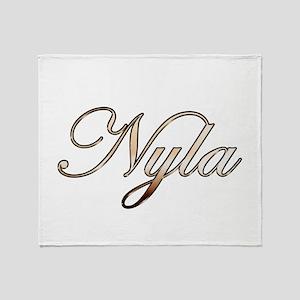 Gold Nyla Throw Blanket