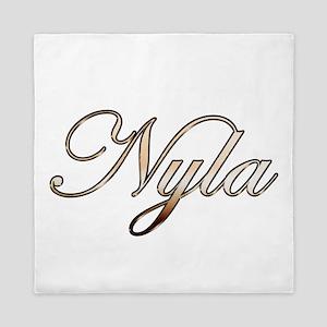 Gold Nyla Queen Duvet