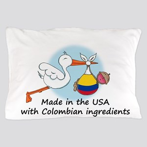 stork baby col 2 Pillow Case