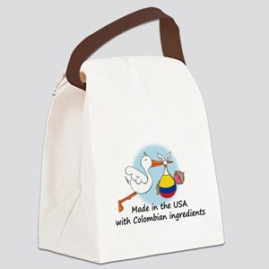 stork baby col 2 Canvas Lunch Bag