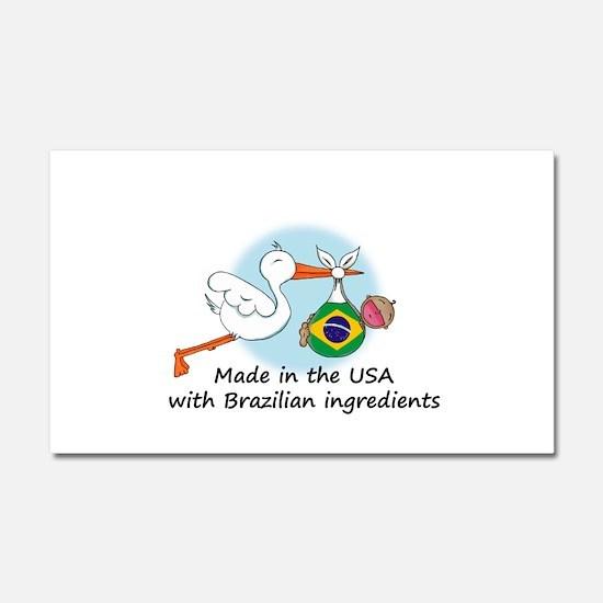 stork baby brazil 2.psd Car Magnet 20 x 12