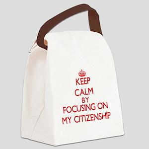 Keep Calm by focusing on My Citiz Canvas Lunch Bag