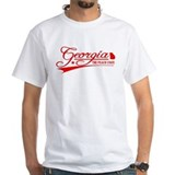 Georgia Mens Classic White T-Shirts