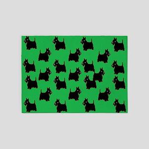 Scottish Terriers 5'x7'Area Rug