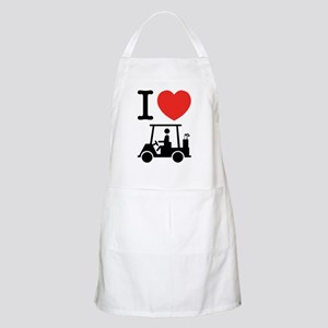 I Heart (Love) Golf Cart Apron
