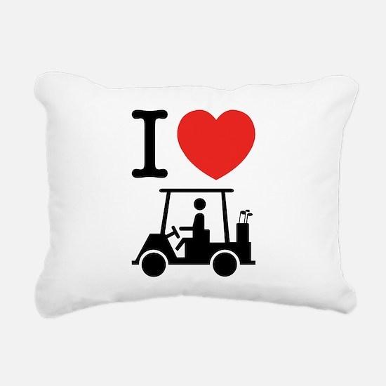 I Heart (Love) Golf Cart Rectangular Canvas Pillow