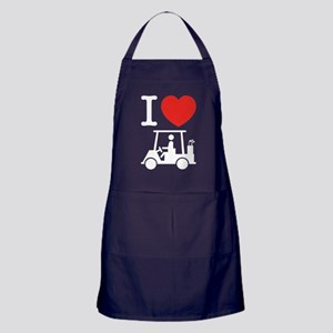 I Heart (Love) Golf Cart Apron (dark)