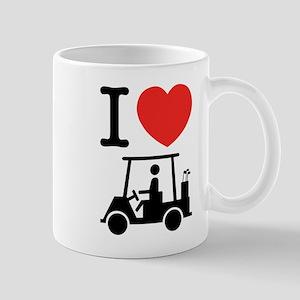 I Heart (Love) Golf Cart Mugs