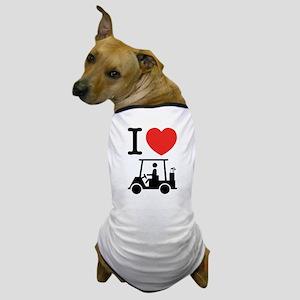 I Heart (Love) Golf Cart Dog T-Shirt