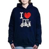 Funny golf cart Hooded Sweatshirt