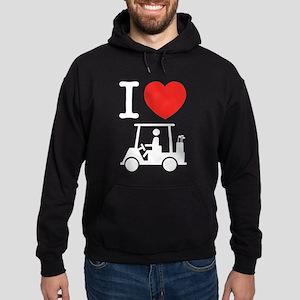 I Heart (Love) Golf Cart Hoody