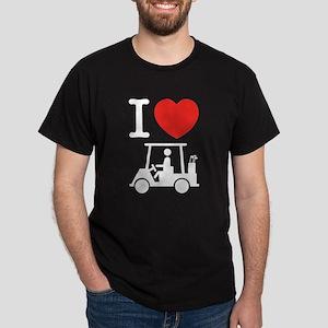 I Heart (Love) Golf Cart T-Shirt