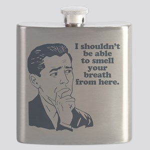 Funny Retro Party Insult Humor Flask