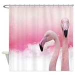 Two Pink Flamingos Shower Curtain