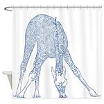 Giraffe Sketch Shower Curtain