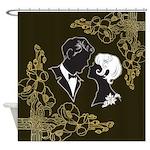 Art Deco Couple Shower Curtain