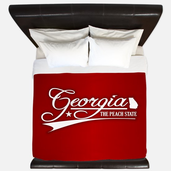 Georgia State of Mine King Duvet