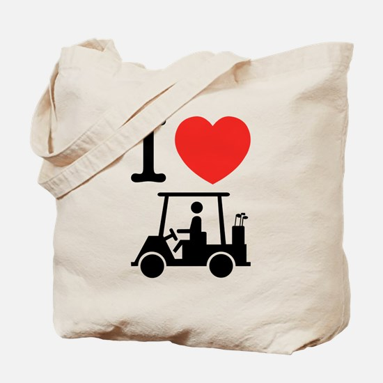I Heart (Love) Golf Cart Tote Bag