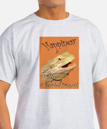 Happiness is a Bearded Dragon. T-Shirt