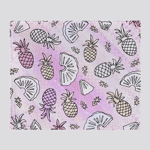 Pink Pineapples, Throw Blanket