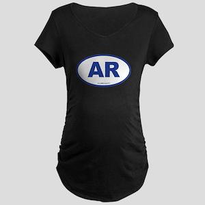 Arkansas AR Euro Oval Maternity Dark T-Shirt