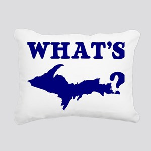 What's UP? Rectangular Canvas Pillow