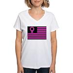 Female Flag Women's V-Neck T-Shirt