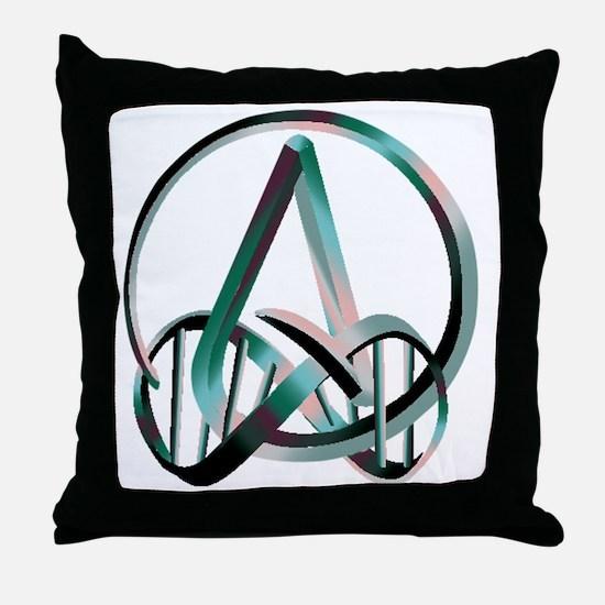Human Atheist Forever Throw Pillow