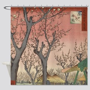 Vintage Cherry Blossoms Japanese Woodblock Shower