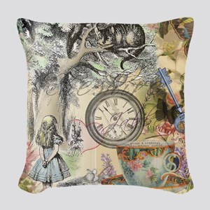 Cheshire Cat Alice in Wonderland Woven Throw Pillo