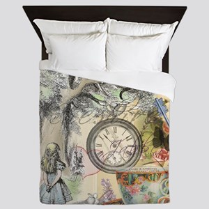 Cheshire Cat Alice in Wonderland Queen Duvet