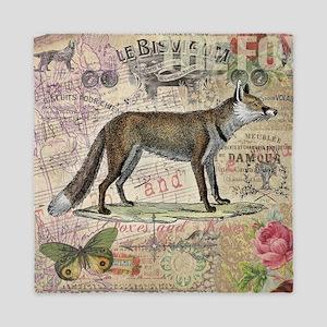Fox Vintage Animal Foxy Gift Queen Duvet