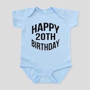 Happy 20th Birthday Infant Bodysuit