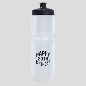 Happy 20th Birthday Sports Bottle