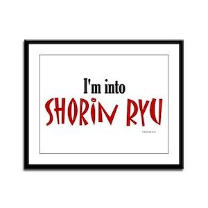 I'm Into Shorin Ryu Framed Panel Print