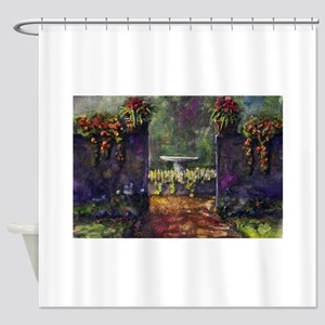 Garden Wall Shower Curtain